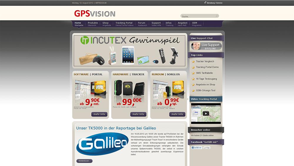 GPSVision Web Screen 1