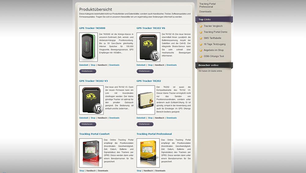 GPSVision Web Screen 2